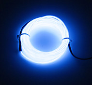 BRELONG 3m DC 12V  EL LED Neon Cold Strip Light Round line - Power Supply