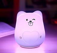 Недорогие -1pc привело ночного света стресс и тревоги облегчения перезаряжаемый сенсорный сенсор usb питание 1,5 Вт сенсорный 7 цветов