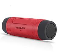 Недорогие -Zealot S1 Bluetooth-динамик Bluetooth 4.0 USB Уличные колонки Шоколадный Серый Синий Темно-красный Темно-зеленый