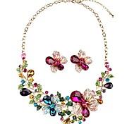 cheap -Women's Stud Earrings Necklace Crystal Rhinestone Classic Fashion Oversized Engagement Ceremony Crystal Imitation Diamond Alloy Flower 1