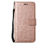 cheap -Case For Nokia Nokia 8 Nokia 6 Card Holder Wallet with Stand Embossed Full Body Cases Solid Color Hard PU Leather for Nokia 8 Nokia 6