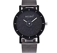 Недорогие -Жен. Модные часы Наручные часы Китайский Кварцевый Крупный циферблат сплав Группа На каждый день минималист Черный
