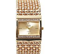 preiswerte -Damen Kinder Armband-Uhr Einzigartige kreative Uhr Simulierter Diamant Uhr Chinesisch Quartz Chronograph Wasserdicht Armbanduhren für den