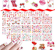 cheap -48 Cute Nail Decals Nail Art DIY Tool Accessory Nail Wraps Nail Sticker As Picture Nail Decoration