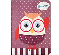 cheap -Case For Apple iPad (2017) / iPad 4/3/2 with Stand / Flip / Pattern Full Body Cases Owl / Cartoon / Animal Hard Textile for iPad Mini 4 /