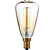 Недорогие -e14 40w st48 желтая лампочка edison маленькая винт крышка ретро люстра декоративные лампочки