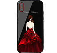 cheap -Case For Apple iPhone X iPhone 8 Shockproof Pattern Back Cover Word / Phrase Sexy Lady Hard Tempered Glass for iPhone X iPhone 8 Plus