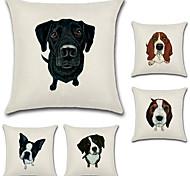 Недорогие -набор из 5 творческих 3d собака печати подушки покрытие животного диван подушка покрытия квадратная наволочка случае