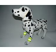 Недорогие -Кошка Собака Светоотражающая полоска Ножные акценты Одежда для собак На каждый день Лолита Однотонный Оранжевый Желтый Костюм Для