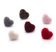 cheap -Women's Heart Fur Stud Earrings / Ball Earrings - Sweet / Dresswear Pink / Wine / Dark Green Earrings For Christmas / School