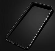 Недорогие -защитный ультратонкий алюминиевый + силикон кадр бампер для iPhone случай 6 / 6с - розовое золото