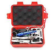 Мультитулы свисток выживания Пряжка Ножи Survival Kit Fire Starter Компасы Пешеходный туризм Походы На открытом воздухе