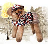 Недорогие -Собака Толстовки Одежда для собак Стиль Для отдыха Chrismas Цветочные/ботанический С принтом Кофейный Костюм Для домашних животных