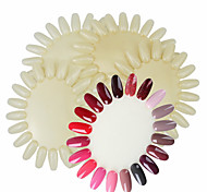 cheap -5PCS 20 Display Wheel Nail Polish Colors Show Card Template Practice Natural False Nail Art Tips Stickers Polish UV Gel Color Display Salon Tools