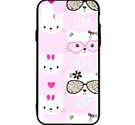 cheap -Case For Apple iPhone X iPhone 8 iPhone 8 Plus iPhone 6 iPhone 7 Plus iPhone 7 Embossed Back Cover Cat Word / Phrase Leopard Print Hard PC