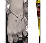 cheap -Black Herbal Henna Cones Temporary Tattoo Kit Body Art Mehandi Ink Hina Temporary Tattoos Henna Tattoos Designs Instant Tattoo Paste Adhesive Stencils