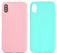 cheap -Case For Apple iPhone X iPhone 8 iPhone 6 iPhone 7 Plus iPhone 7 Other Back Cover Solid Color Soft TPU for iPhone X iPhone 8 Plus iPhone