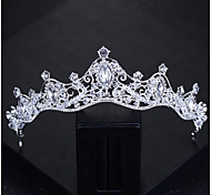 Women's Headband,Basic Classic Bride & Groom Style Crystal All Seasons Silver