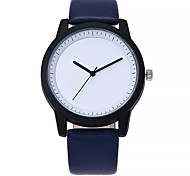 cheap -Women's Casual Watch Fashion Watch Wrist watch Chinese Quartz Large Dial Genuine Leather Band Casual Black Blue Brown Grey Beige Clover