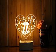 Недорогие -1 набор 3d настроение ночь свет рука чувство dimmable usb питание подарок лампа романтическая любовь