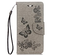cheap -Case For Huawei Y5 III(Y5 2017) Y5 II / Honor 5 Card Holder Wallet with Stand Flip Embossed Full Body Cases Butterfly Hard PU Leather for