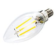 Недорогие -400 lm E12 LED лампы в форме свечи C35 светодиоды COB Диммируемая Декоративная Тёплый белый AC 110-130 В