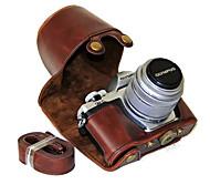 Недорогие -dengpin® пу кожаный чехол для камеры сумка чехол с плечевым ремнем для Olympus E-M10 Mark II EM10 Mark2 (ассорти цветов)