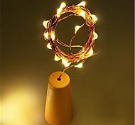 Недорогие -1m Светодиоды на солнечной батарее Гирлянды 10 светодиоды 1M String Light Тёплый белый Белый Разные цвета Работает от солнечной энергии