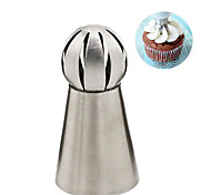 1pc Stainless Steel Torch Flower Mouth Nozzles Cake Cookie Decorating Russia Spherical tool
