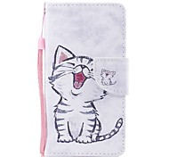 cheap -Case For Huawei P9 Lite Huawei P8 Lite (2017) P10 Lite Card Holder Wallet with Stand Flip Magnetic Pattern Full Body Cases Cat Hard PU