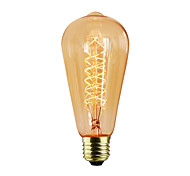 cheap -1pc 40W E27 E26/E27 G80 Warm White K Incandescent Vintage Edison Light Bulb AC 220-240V V