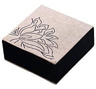 cheap -Jewelry Boxes Cufflink Box Cloth Fabric Square Linen