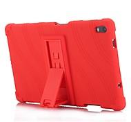abordables -Coque Pour Lenovo Tab 4 8 Plus Avec Support Coque Couleur Pleine Rayé Motif Flexible Silicone pour Lenovo Tab 4 8 Plus