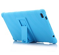 cheap -Wave Pattern Pattern Silicone Rubber Gel Skin Case Cover with Holder for Lenovo Tab 4 8 (TB-8504) 8.0 inch Tablet PC