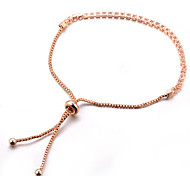 cheap -Women's Chain Bracelet Crystal Classic Sweet Fashion Alloy Line Jewelry Party Gift Evening Party Prom