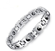 cheap -Men's Stainless Steel 1pc Chain Bracelet - Vintage Circle Silver Bracelet For Gift Daily