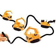 Недорогие -Игрушечные машинки Строительная техника Игрушки Автомобиль Специально разработанный Взаимодействие родителей и детей Мягкие пластиковые 1