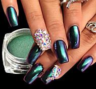 Недорогие -1шт Роскошь Блестящие Зеркальный эффект порошок Порошок блеска Гель для ногтей Образец Дизайн ногтей Советы для ногтей