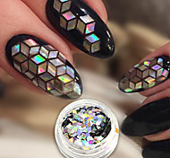 abordables -1pc Luxe Nail Glitter Nail Glitter Paillettes Conseils d'art des ongles Nail Art Design