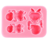 cheap -Mold Sleeping Baby For Chocolate For Cookie For Cake Silicone Eco-friendly DIY Thanksgiving