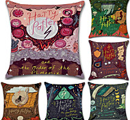 cheap -6 pcs Cotton/Linen Pillow Cover, Print Bohemian Style Retro