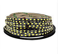 cheap -600 LEDs 5M LED Strip Light Warm White Cold White Cuttable Self-adhesive Linkable DC 12V