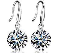 cheap -Women's Drop Earrings Cubic Zirconia Classic Fashion Zircon Alloy Circle Jewelry Daily Ceremony Costume Jewelry