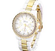 cheap -Women's Casual Watch Fashion Watch Simulated Diamond Watch Japanese Quartz Imitation Diamond Large Dial Casual Watch Plastic Band Casual