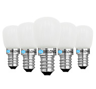 cheap -BRELONG® 5pcs 2W 120lm E14 E12 LED Globe Bulbs 1 LED Beads COB Dimmable Warm White White 220V