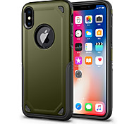 cheap -Case For Apple iPhone X iPhone 8 Shockproof Back Cover Solid Color Hard PC for iPhone X iPhone 8 Plus iPhone 8 iPhone 7 Plus iPhone 7