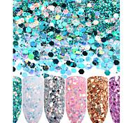 Недорогие -Порошок блеска Пайетки Классика Высокое качество Повседневные Дизайн ногтей