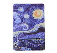 cheap -Case For Apple iPad Mini 4 iPad Mini 3/2/1 iPad mini 4 with Stand Magnetic Origami Pattern Full Body Cases sky Hard PU Leather for iPad