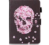 cheap -Case For Samsung Galaxy Tab S2 9.7 Card Holder Wallet with Stand Pattern Auto Sleep/Wake Up Full Body Cases Skull Hard PU Leather for Tab