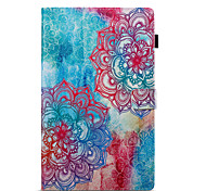cheap -Case For Amazon Wallet with Stand Flip Pattern Auto Sleep/Wake Up Full Body Cases Mandala Hard PU Leather for Kindle Fire hd 10(7th